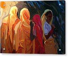 Four Women Acrylic Print by Shubnum Gill
