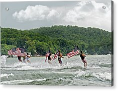 Fourth Of July Water Skiers Acrylic Print by Susan Leggett