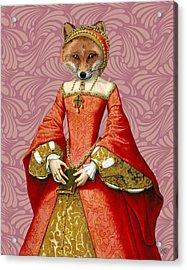 Fox Queen Acrylic Print by Kelly McLaughlan