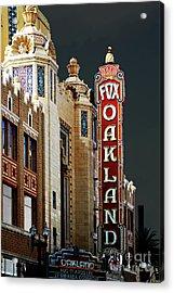 Fox Theater . Oakland California Acrylic Print by Wingsdomain Art and Photography