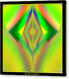 Fractal 32 Up Up And Away Acrylic Print by Rose Santuci-Sofranko