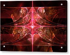Fractal - Abstract - The Essecence Of Simplicity Acrylic Print by Mike Savad