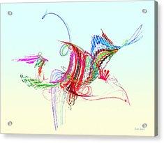 Fractal - Flying Bird Acrylic Print by Susan Savad