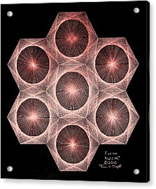 Fractal Fusion Hw Equals Mc Squared Acrylic Print by Jason Padgett