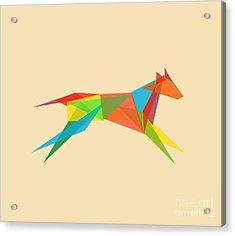 Geometric Dog Acrylic Print by Nava Seas