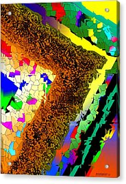 Fractionated Desing Acrylic Print by Mario Perez