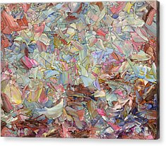Fragmented Hill Acrylic Print by James W Johnson
