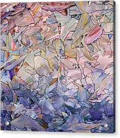 Fragmented Sea - Square Acrylic Print by James W Johnson