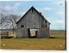 Framed Barn Acrylic Print by Steven  Michael