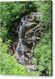 Framed Waterfalls On Mount Rainier Acrylic Print by John Haldane