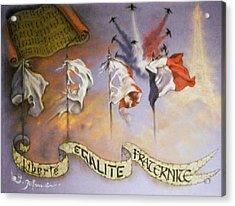 France Belle Et Rebelle Un Acrylic Print by Guillaume Bruno