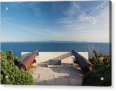 France, Corsica, Bonifacio, Citadel Acrylic Print by Walter Bibikow