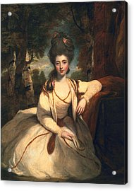 Frances Molesworth, Later Marchioness Acrylic Print by Sir Joshua Reynolds