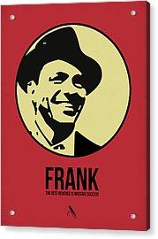 Frank Poster 2 Acrylic Print by Naxart Studio