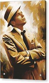 Frank Sinatra Artwork 1 Acrylic Print by Sheraz A