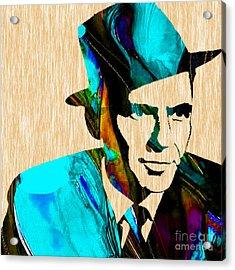 Frank Sinatra Paintings Acrylic Print by Marvin Blaine