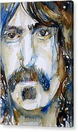 Frank Zappa Watercolor Portrait.2 Acrylic Print by Fabrizio Cassetta