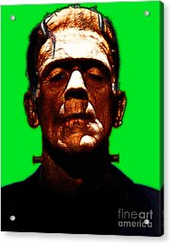 Frankenstein - Green Acrylic Print by Wingsdomain Art and Photography