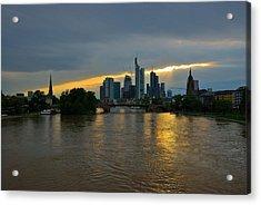 Frankfurt Sunset Acrylic Print by Steven Richman