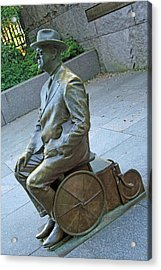 Franklin Delano Roosevelt In A Wheelchair Acrylic Print by Cora Wandel