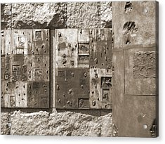 Franklin Delano Roosevelt Memorial - Bits And Pieces 2 Acrylic Print by Mike McGlothlen