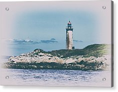 Franklin Island Lighthouse Acrylic Print by Karol Livote