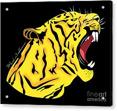 Freak Tiger  Acrylic Print by Mark Ashkenazi