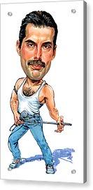 Freddie Mercury Acrylic Print by Art