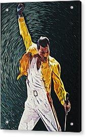 Freddie Mercury Acrylic Print by Taylan Soyturk