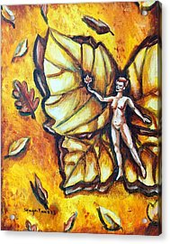 Free As Autumn Leaves Acrylic Print by Shana Rowe Jackson