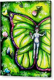 Free As Spring Flowers Acrylic Print by Shana Rowe Jackson
