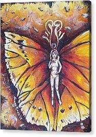 Free As The Flame Acrylic Print by Shana Rowe Jackson