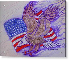 Freedom Reigns Acrylic Print by Mark Schutter
