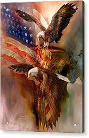 Freedom Ridge Acrylic Print by Carol Cavalaris