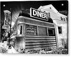 Freehold Diner Acrylic Print by John Rizzuto