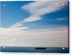 Freighter In The Sea, Point Bonita Acrylic Print by Panoramic Images