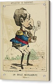 French Caricature - La Belle Marguerite Acrylic Print by British Library