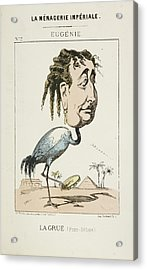 French Caricature - La Grue Acrylic Print by British Library