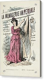 French Caricature- La Menagerie Imperiale Acrylic Print by British Library