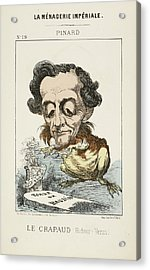 French Caricature - Le Crapaud Acrylic Print by British Library