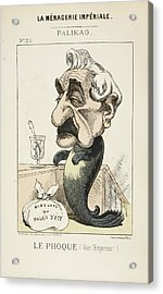 French Caricature - Le Phoque Acrylic Print by British Library