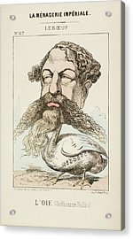 French Caricature - L'oie Acrylic Print by British Library