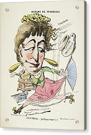 French Caricature - Madame De Framboisie Acrylic Print by British Library