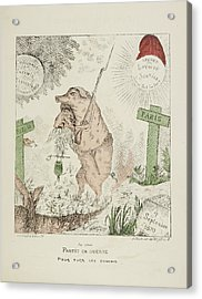 French Caricature - Partit En Guerre Acrylic Print by British Library