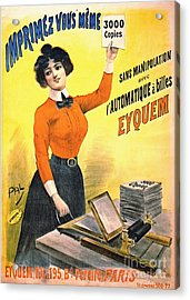 French Copier Ad 1899 Acrylic Print by Padre Art