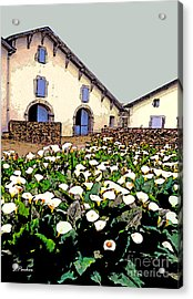 French Farmhouse In The Pyrenees Acrylic Print by Linda  Parker