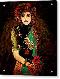 French Girl Acrylic Print by Natalie Holland