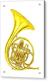 French Horn Acrylic Print by Michael Vigliotti