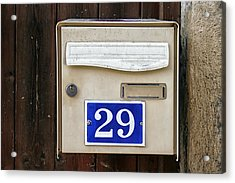 French Mailbox Number 29 Acrylic Print by Georgia Fowler