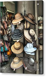 French Market Hats For Sale Acrylic Print by Brenda Bryant